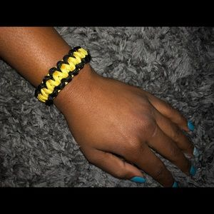 Other - Black and Yellow Steelers Survival Bracelet
